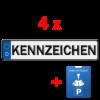 4x kfz kennzeichen und parkuhr