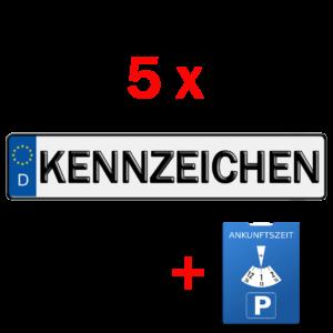 5x kfz kennzeichen und parkuhr